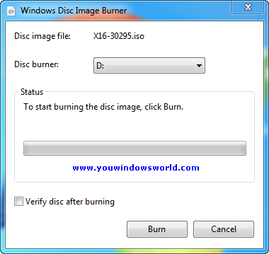 Burn ISO images to CD or DVD in Windows 7