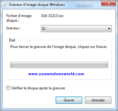 Graver des images ISO de CD ou de DVD dans Windows 7